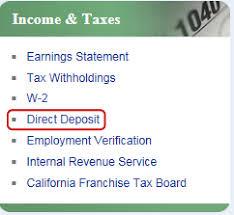 Direct Deposit Verification Sign Up For Payroll Direct Deposit