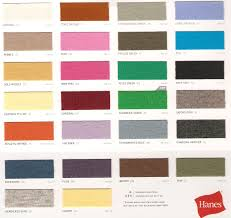 Hanes Color Chart