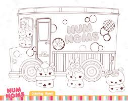 Free Num Noms Coloring Pages Activities For Kids Num Noms Party