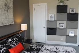 bedroom wall storage. Plain Wall A Wall Of Gray And Black Ikea Trones Is Stylish Cheap Bedroom Storage  Solution In Bedroom Wall Storage