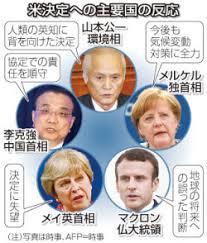 「トランプ「パリ協定」離脱」の画像検索結果