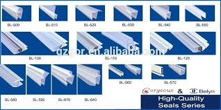 fantastic glass shower door seal clear plastic strip bath screen view mt35