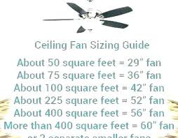 ceiling fan size for hdb bedroom room to chart small fans double where s ceiling fan size
