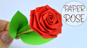 Red Paper Flower How To Make Rose Of Paper Diy Paper Crafts