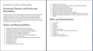 ... cover letter Teacher Job Responsibilities Resume Top Preschool  Resumeseed Com Education Descriptionselementary school teacher  responsibilities Extra