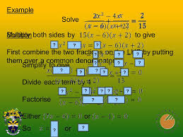 solution first combine the two fractions on the lhs by putting them over a common denominator