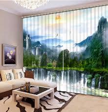 Modern Curtains Living Room Online Get Cheap Nature Curtains Aliexpresscom Alibaba Group
