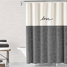 image of ED Ellen DeGeneres Love 72-Inch x 72-Inch Shower Curtain