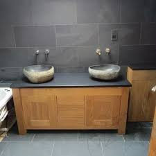 black slate countertop brushed 200 x 65 x 3 cm