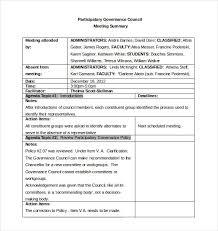 Meeting Recap Template Meeting Minutes Template Excel Example 2375