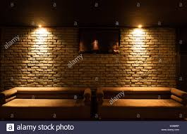 Image Garden Old Type Brick Wall Texture Front Face And Two Sofa With Local Lighting Alamy Old Type Brick Wall Texture Front Face And Two Sofa With Local Stock