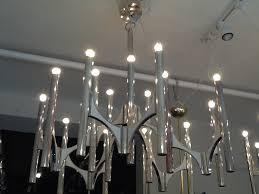 pair sciolari 1960 s chrome chandeliers pair sciolari 1960 s chrome chandeliers