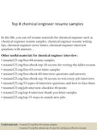Chemical Engineer Resume Examples Staruptalent Com