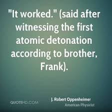 Oppenheimer Quote Fascinating J Robert Oppenheimer Quotes QuoteHD
