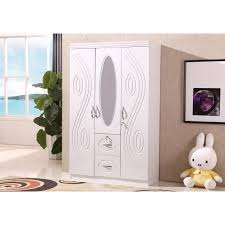 two door white wardrobe with two drawers and a mirror loading zoom