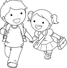 Disegno Da Colorare Per I Vostri Bambini Si Torna A Scuola