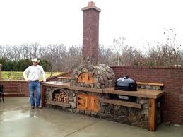 Rustic Outdoor Kitchen Ideas Pizza Oven For Living E Patio Design With