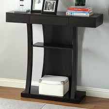 foyer table with storage. Foyer Tables With Storage Furniture Black Wooden Console Table Drawer And Shelf Added White . I