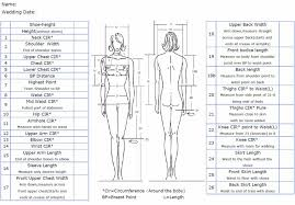 Measurement Chart Savilerow Wedding Boutique