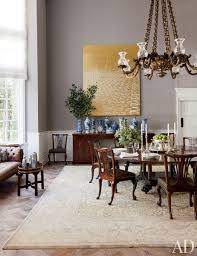 in the dining room of rug designer ben soleimani s beverly hills home decorator waldo fernandez