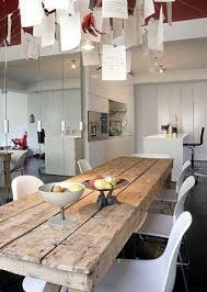 long wood dining table: table dining rustic style rustic love the unfinished wood look solid skinny and long fits eight people on it beautiful solid wood