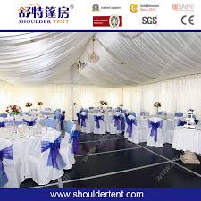 big wedding party tent with round table sitting arrangement sdc 20