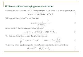 renormalized averaging formula for vu