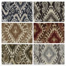 milliken artisan indoor ikat pattern area rug collection 3 8 thick 40 oz cut pile area rug multiple colors