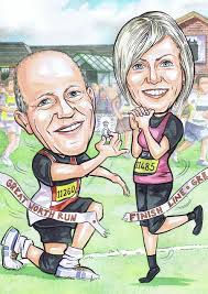 aberdeen caricaturists uk great north run wedding anniversary gift and enement present groom proposing to bride