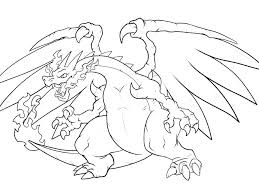 mega charizard coloring page coloring pages