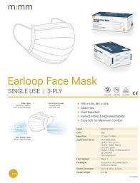 VIOLA Disposable 3-Layer <b>Protective</b> Earloop Face Masks (<b>500pcs</b>)