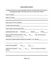 Office Incident Report Template