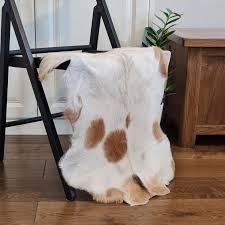 Goatskin <b>Rug</b> | 100% <b>Genuine Leather</b> | Soft Fur Animal Skin | Goat ...