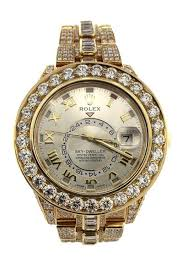 rolex 326938 sky dweller 42 custom diamonds gold mens watchguynyc