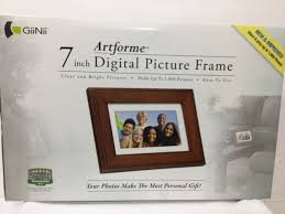giinii artforme 7 inch digital picture frame with real wood gn 705w 1000 pics