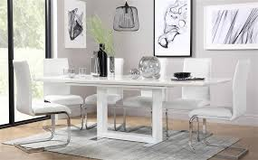 gallery tokyo white high gloss extending dining table and 4 chairs set