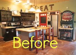 Small Rustic Kitchen Small Rustic Kitchen Makeover Repurposed Life