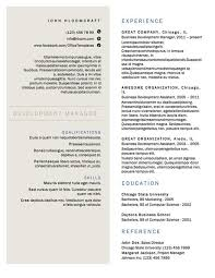 Resume Templates Gorgeous Free Resume Templates For Architects ArchDaily