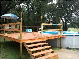 Above Ground Swimming Pool Deck Designs Unique Design Ideas