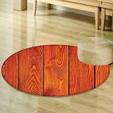 Hardwood Floors Living Room Delectable Amazon Mikihome Round Rugs For Bedroom Burnt Orange Decor Wood