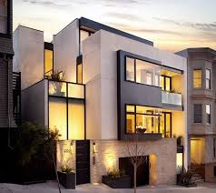 modern exterior house design. Luxury Modern Home Exterior Design Of Russian Hill Residence By John Maniscalco Architecture, San Francisco House E