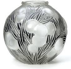 art deco rene laliqe oranges vase
