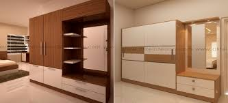 Wardrobe With Dressing Table Designs India Prune Bedroom Wardrobe Cum Dressing Table Dlife