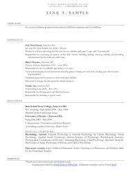 Objective For A Nanny Resume Nanny Resume Objective Examples Toretoo Best Ideas Of Unusual 42