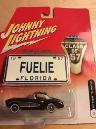 johnny lightning 1957 corvette hardtop toy car cast and hot wheels