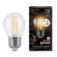 <b>Лампа Gauss LED Globe</b> E27 7W 3000K step dimmable