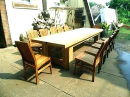 wood patio dining set teak outdoor tables table design white chairs and tab rustic sets