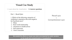 Understanding Visual Cues In Visualizations Accompanied By