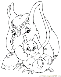 Mom And Baby Elephant Coloring Pages Get Coloring Pages