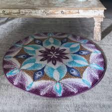gratitude round rug purple touch to zoom
